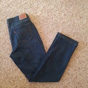 Levis 505 Straight Leg Darkwash Jeans